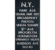New York Poster Photographic Print