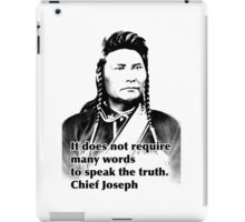 Chief Joseph iPad Case/Skin
