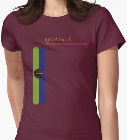 Rosedale 1966 station Womens Fitted T-Shirt
