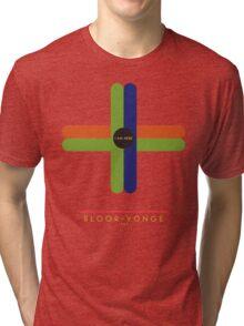 Bloor-Yonge 1966 station Tri-blend T-Shirt