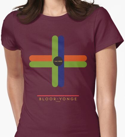 Bloor-Yonge 1966 station Womens Fitted T-Shirt