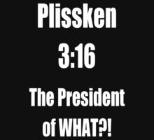 Plissken 3:16 - White Text by StoicthePariah