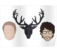 Hannibal graphic heads Poster