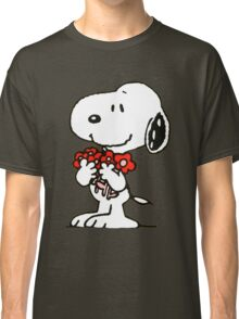 Snoopy Flowers Classic T-Shirt