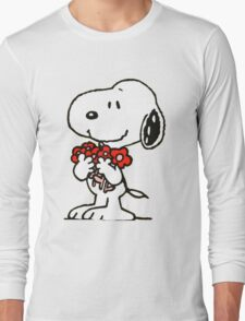 Snoopy Flowers Long Sleeve T-Shirt