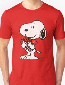 Snoopy Flowers Unisex T-Shirt