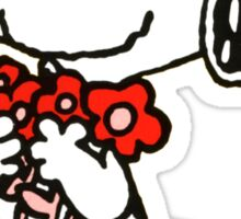 Snoopy Flowers Sticker