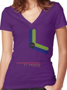 St. Andrew 1966 station Women's Fitted V-Neck T-Shirt
