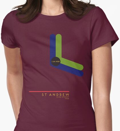 St. Andrew 1966 station Womens Fitted T-Shirt