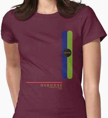 Osgoode 1966 station Womens Fitted T-Shirt