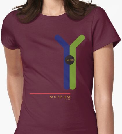 Museum 1966 station Womens Fitted T-Shirt