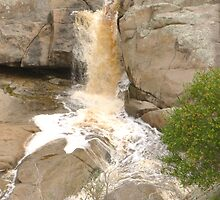 The First Fallls! close-up, Mannum Gorge, S.A. by Rita Blom