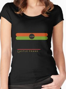 Castle Frank 1966 station Women's Fitted Scoop T-Shirt