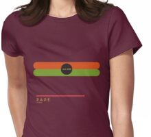 Pape 1966 station Womens Fitted T-Shirt