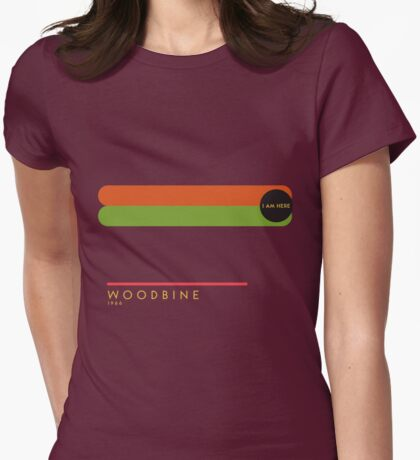 Woodbine 1966 station Womens Fitted T-Shirt
