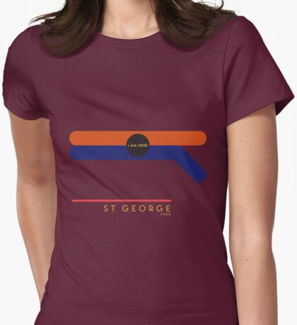 St. George 1966 station Womens Fitted T-Shirt