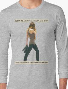 Crystal Clear, Knife Thin Long Sleeve T-Shirt