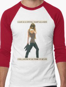 Crystal Clear, Knife Thin Men's Baseball ¾ T-Shirt