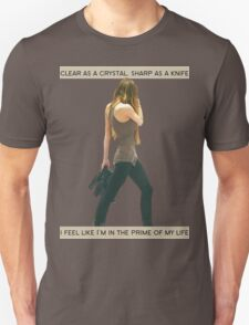 Crystal Clear, Knife Thin Unisex T-Shirt