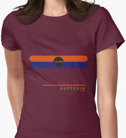 Dufferin 1966 station Womens Fitted T-Shirt