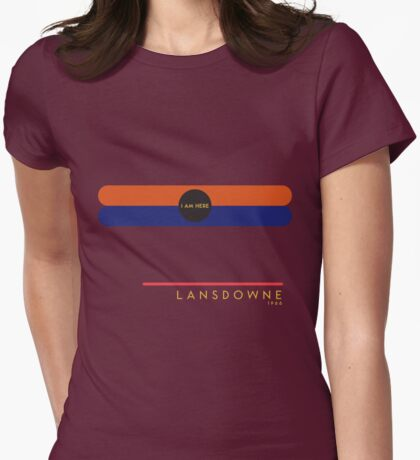 Lansdowne 1966 station Womens Fitted T-Shirt