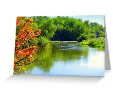 Autumn Is Upon Us..On The Boise River Greeting Card