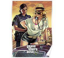 Grand Theft Auto V Arrest poster Poster