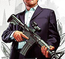 Grand Theft Auto V Michael Poster by Strikerz13