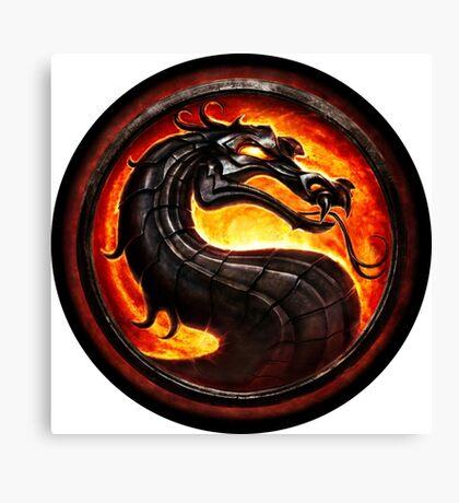 Mortal Kombat logo Canvas Print