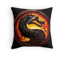 Mortal Kombat logo Throw Pillow