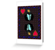 Spray King of Hearts Greeting Card