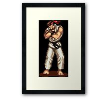 Ryu Victory Pose Street Fighter Framed Print