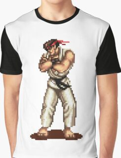 Ryu Victory Pose Street Fighter Graphic T-Shirt