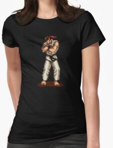 Ryu Victory Pose Street Fighter Womens Fitted T-Shirt