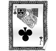 Simple Jack of Clubs Poster