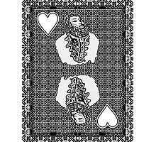 Simple King of Hearts Photographic Print
