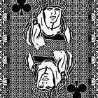 Simple Queen of Clubs by RonMock