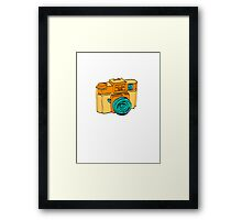 Colorful Holga Camera Sketch Framed Print