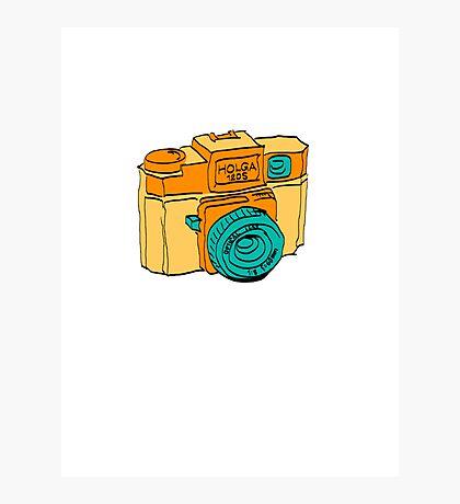 Colorful Holga Camera Sketch Photographic Print