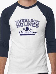 Holmes Elementary - Dark Text Men's Baseball ¾ T-Shirt