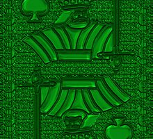 Green King of Spades by RonMock