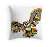 Indie Owl Throw Pillow