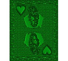 Green King of Hearts Photographic Print