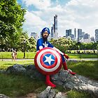 Captain America in Central Park by sikhcaptain
