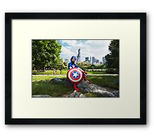 Captain America in Central Park Framed Print