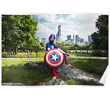 Captain America in Central Park Poster