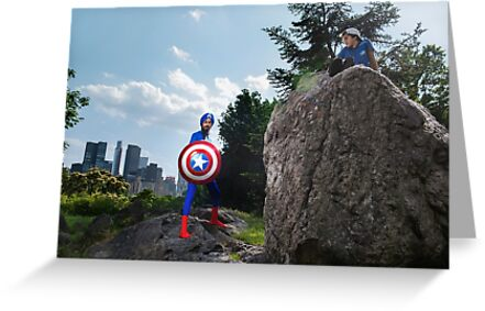 Captain America on a Rock by sikhcaptain