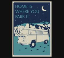 VW Bay Window Bus - Home Is Where You Park It Kids Clothes
