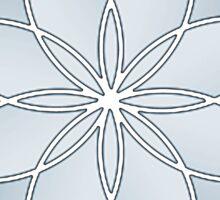 Flower of Life - Sky Blue Sticker