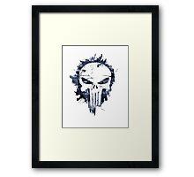 The Punisher Skull Logo Framed Print